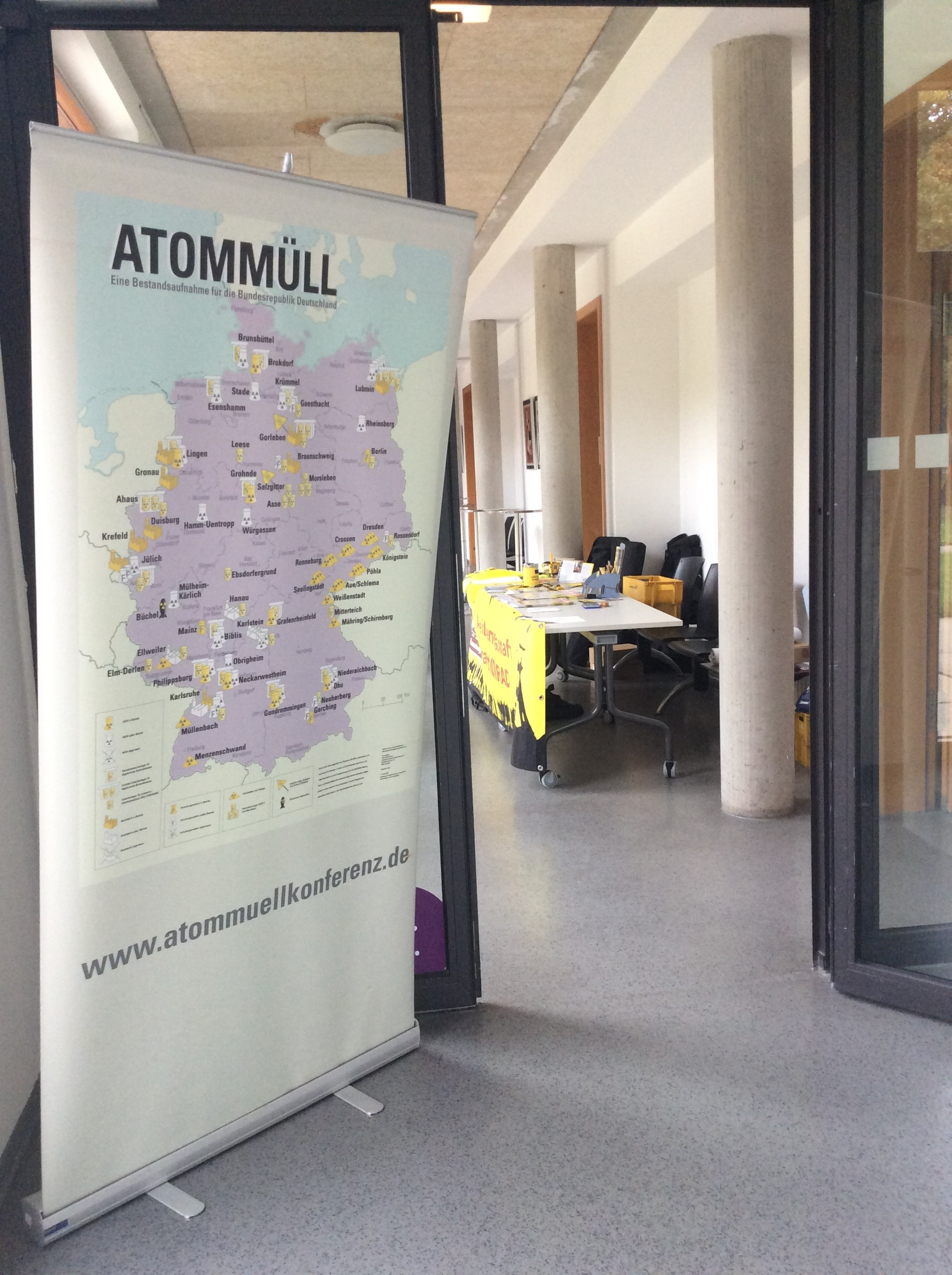Atommüllkonferenz am 22.09.2018 in Göttingen
