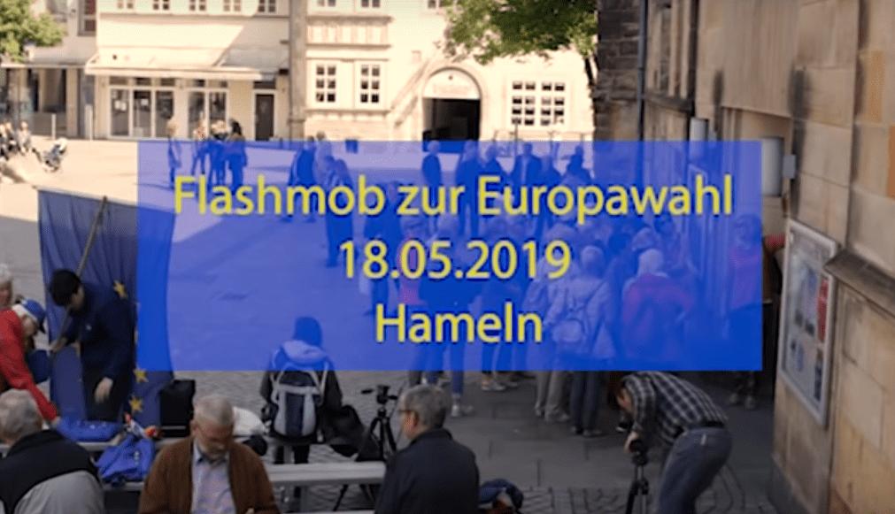 Europa-Flashmob in Hameln