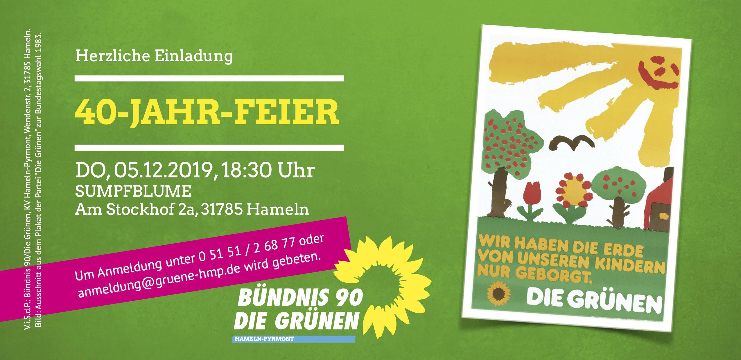 Herzliche Einladung: 40 Jahre Grüner Kreisverband!