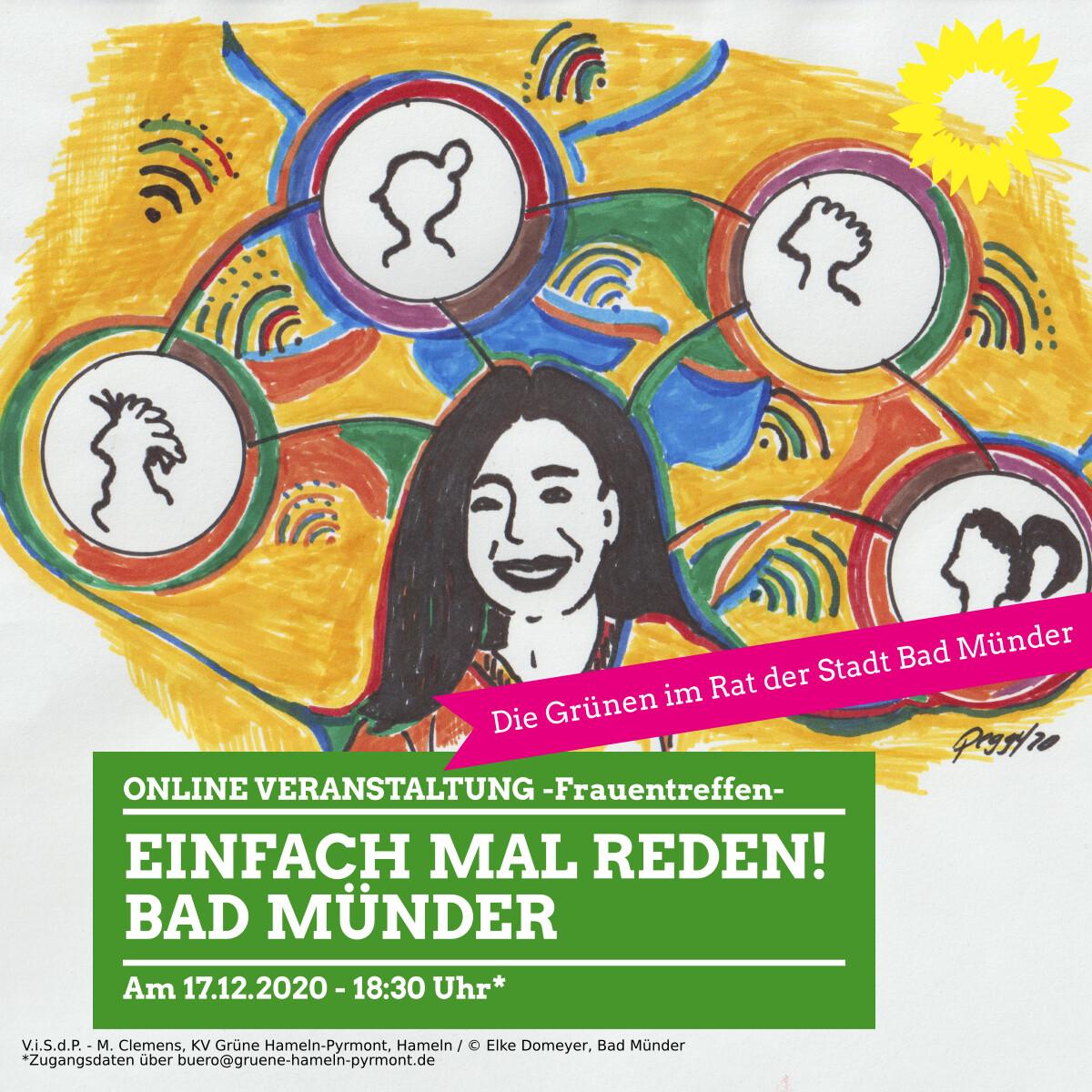 Einladung zum Frauentreffen – einfach mal reden!  Online Veranstaltung am 17.12.2020 – 18:30 Uhr