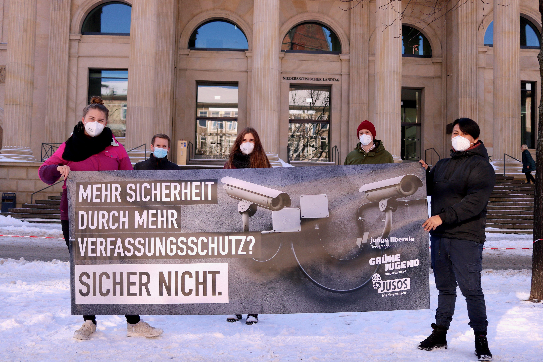 Parteijugendorganisationen protestieren gegen geplante Novelle des Verfassungsschutzgesetzes