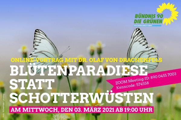 Vortrag: Blütenparadiese statt Schotterwüsten 3. März um 19:00 Uhr