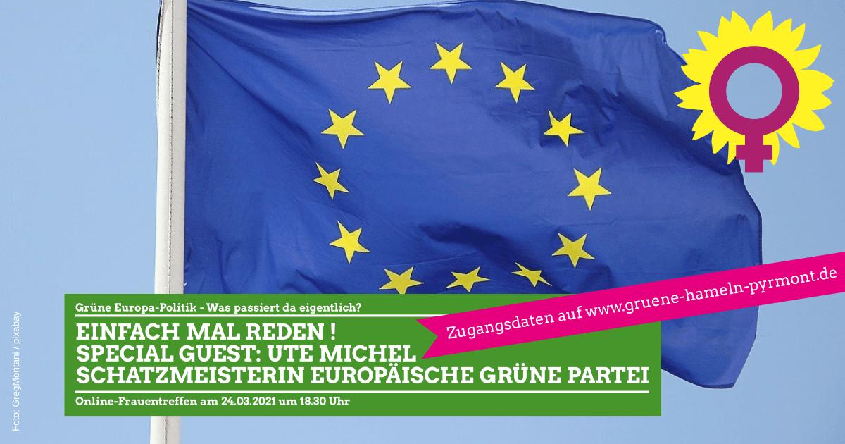 Online Frauentreffen am 24.03.2021 um 18:30 Uhr, Thema: Europa Politik!