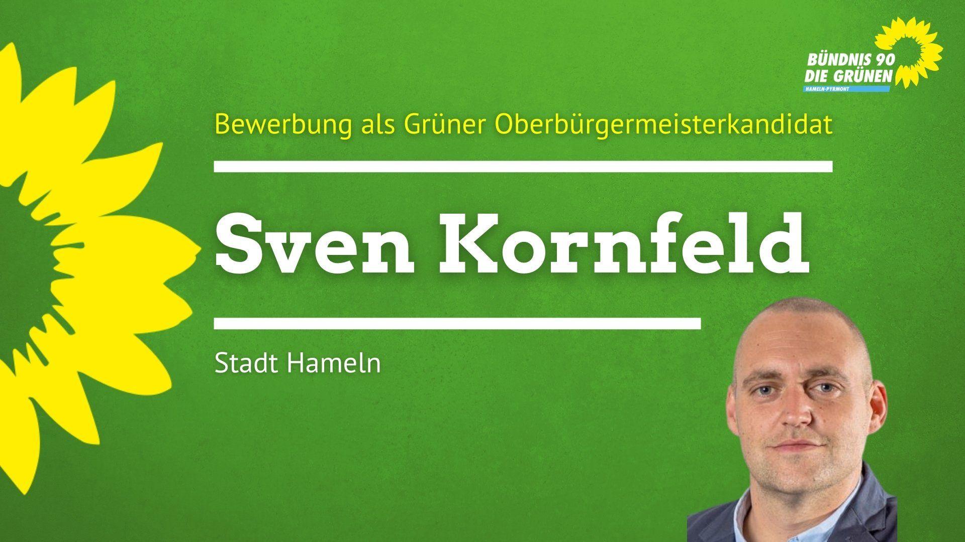 Grüne nominieren Sven Kornfeld für die Urnenwahl zum Oberbürgermeister-Kandidaten