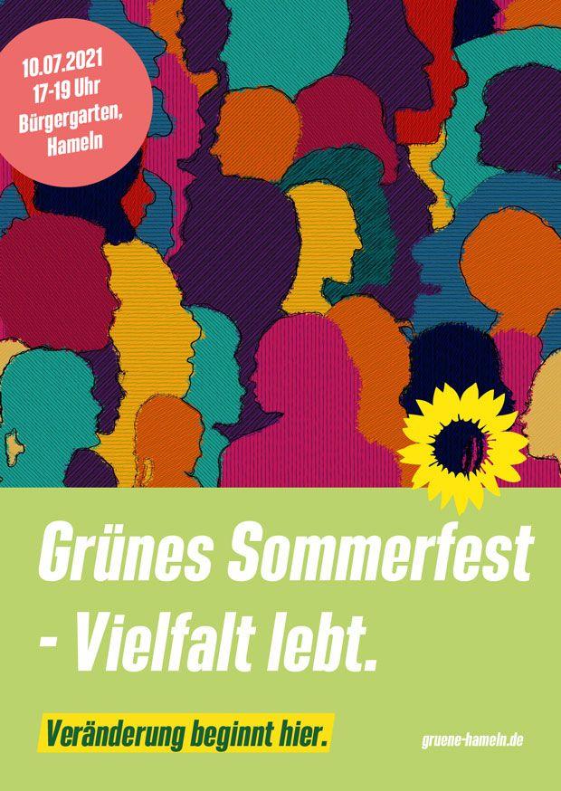 Einladung zum Grünen Sommerfest am 10.07. um 17 Uhr im Bürgergarten