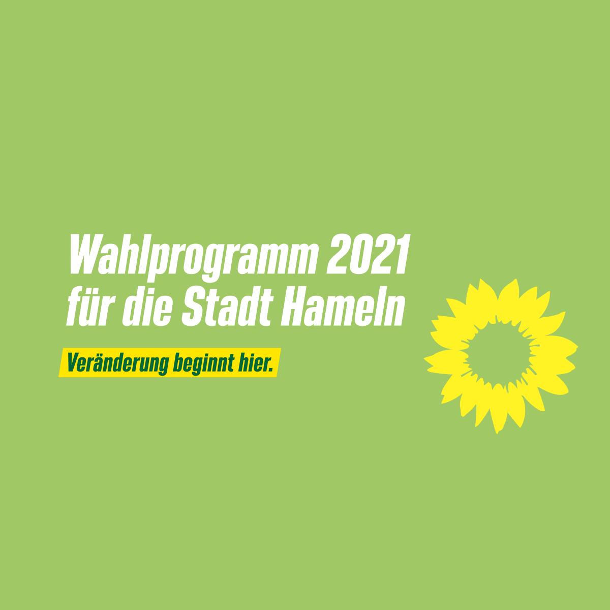 Unser Wahlprogramm 2021 für die Stadt Hameln