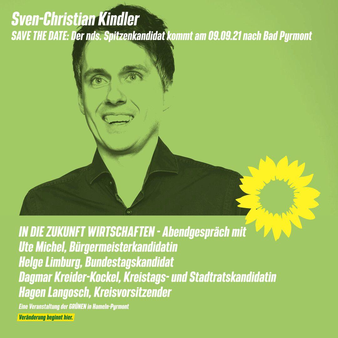 SAVE THE DATE: Sven-Christian Kindler kommt am 09.09.2021 nach Bad Pyrmont!
