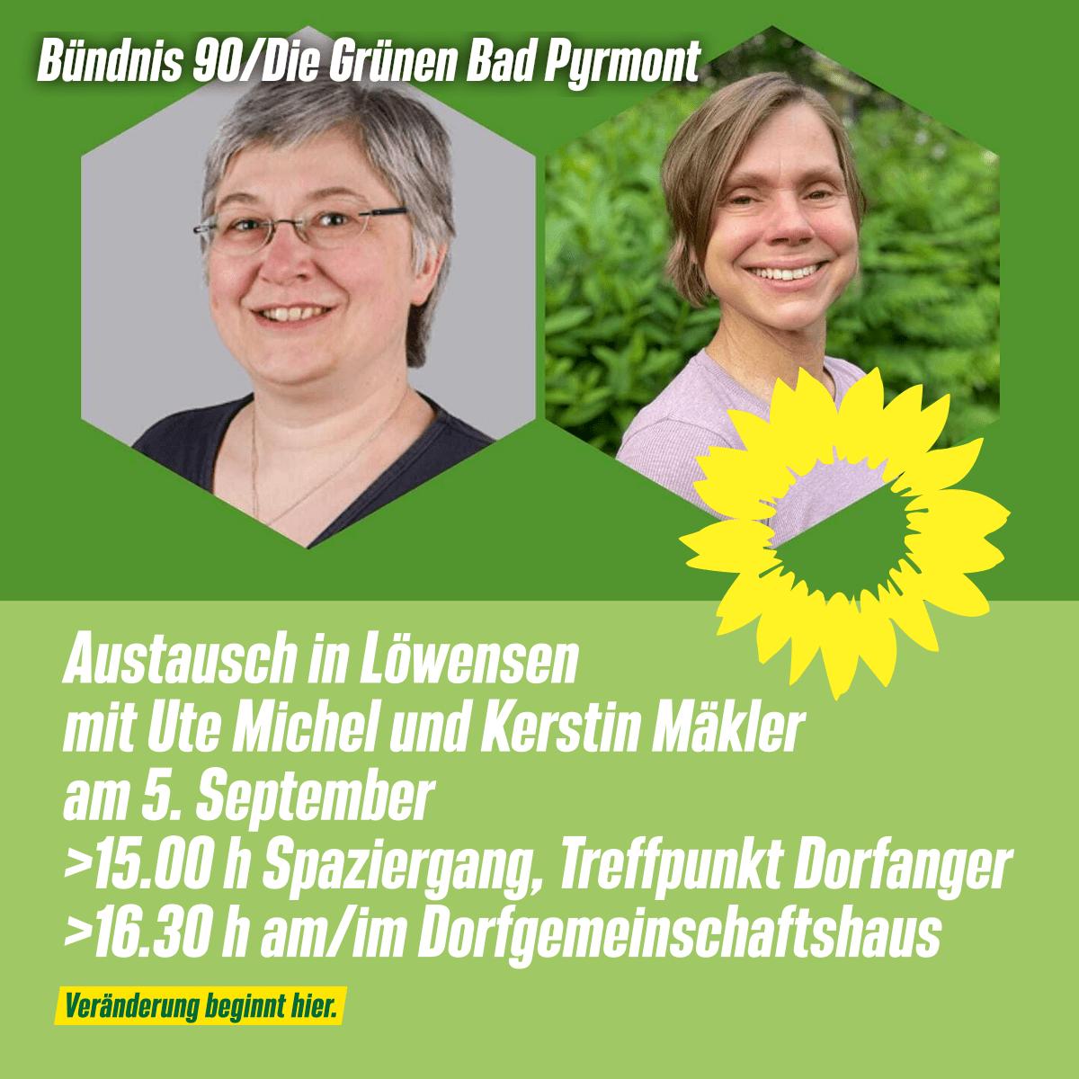 Gedankenaustausch in Löwensen: 5.9., 15.00 h / 16.30 h